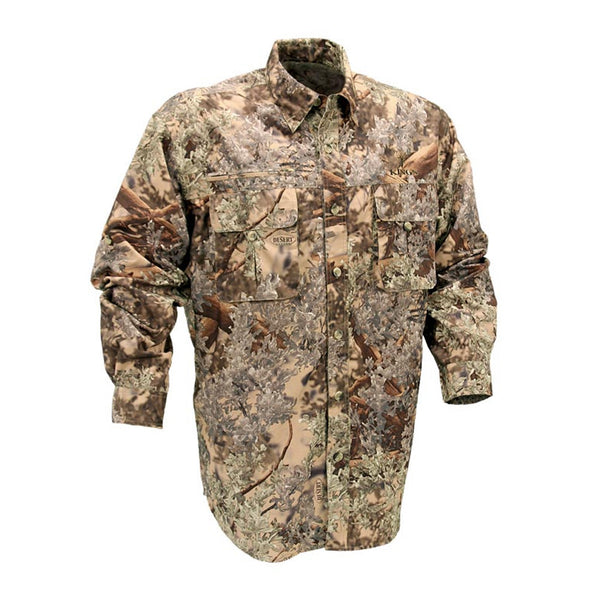 KINGS CAMO Desert Shadow Long Sleeve Hunter Safari Shirt (KCM1607-DS)