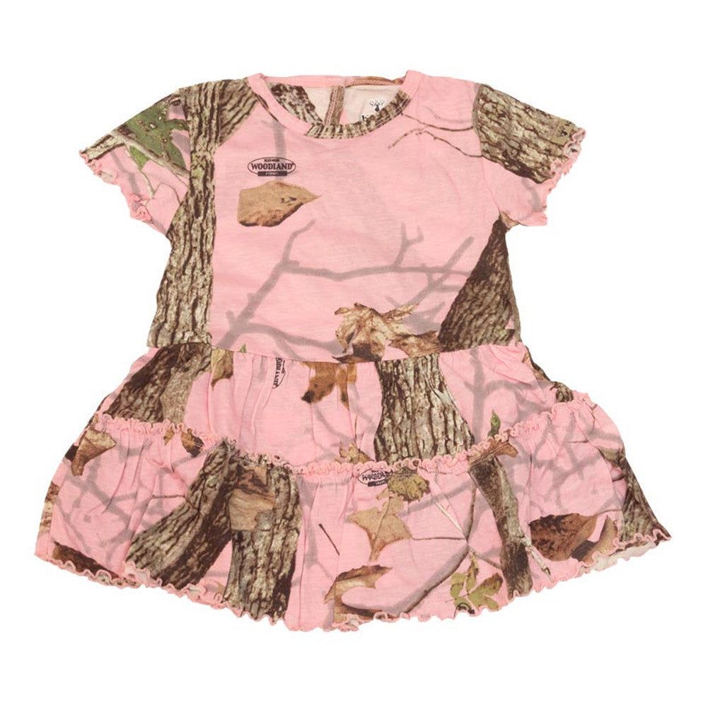KINGS CAMO KCT914-WP Woodland Pink Toddler Dress