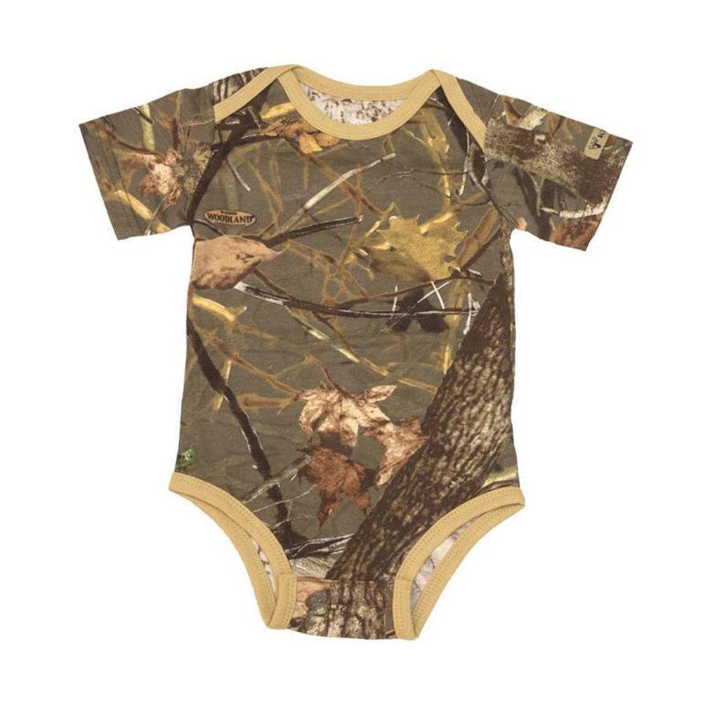 KINGS CAMO KCT923-WS Woodland Shadow Infant Short Sleeve Bodysuit