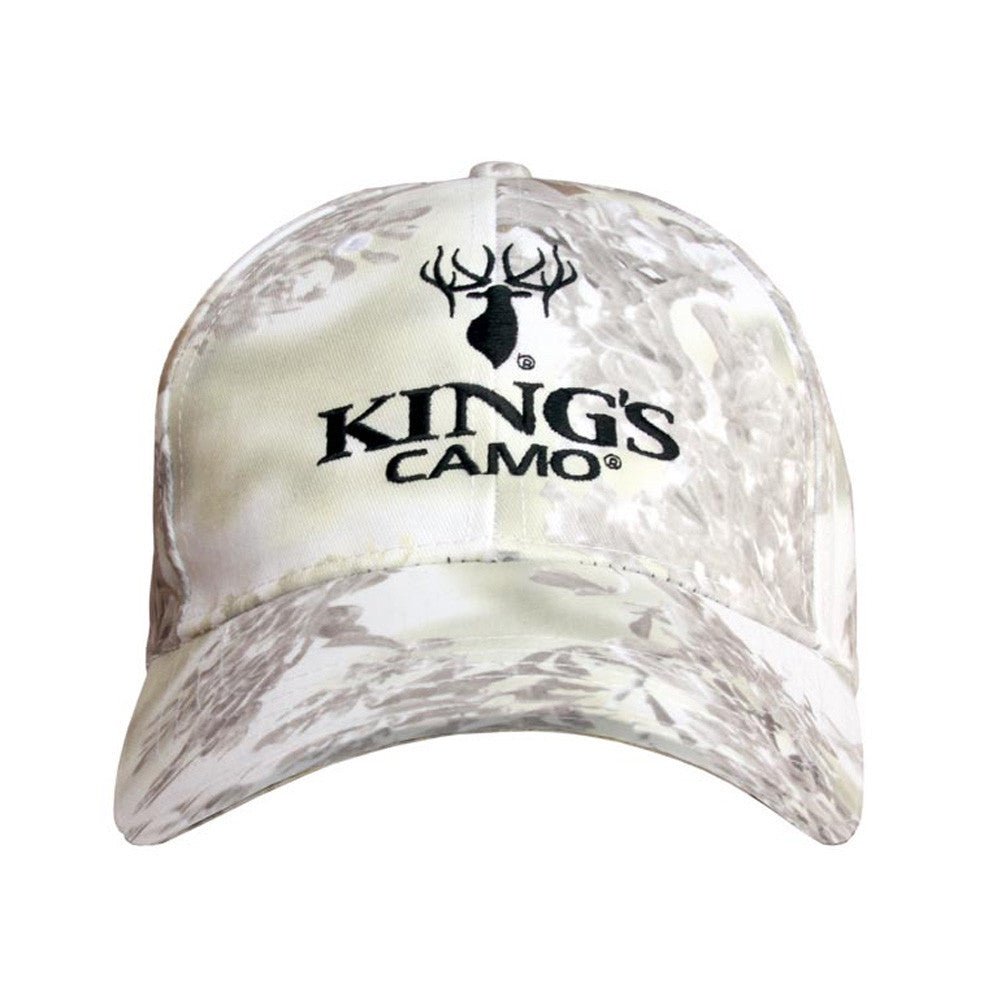 KINGS CAMO KHT1511-SS Hunter Series Snow Shadow Embroidered Cap