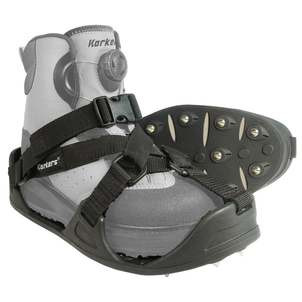 KORKERS RockTrax Black/Moonrock Medium Size Fishing Overshoe (FA5100-WEBY)