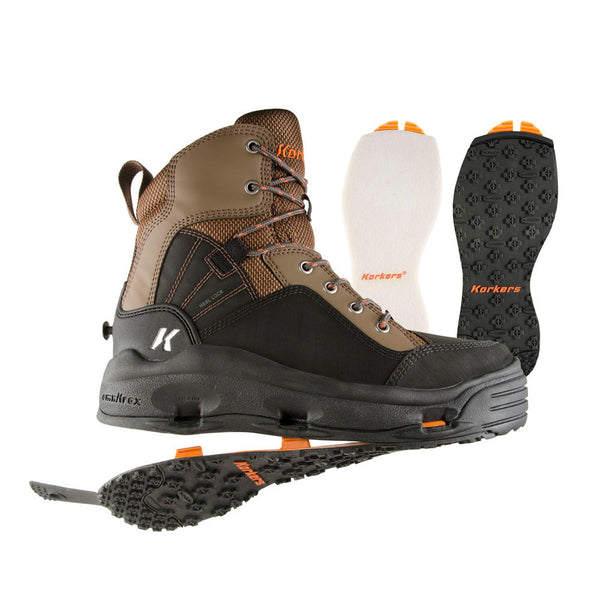 KORKERS BuckSkin with Felt & Kling-On Outsole Boots (FB4310)