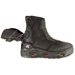 KORKERS Hatchback Black Size 7 Fishing Boots with Kling-On and Studded Kling-On Soles (FB4920-07)