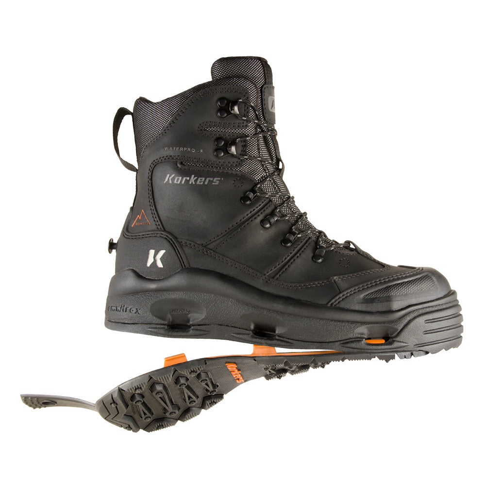 KORKERS SnowJack Pro Safety with SnowTrac & IceTrac Outsole Boots (IB7520BK)