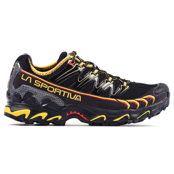LA SPORTIVA 16U-BY Mens Ultra Raptor Black and Yellow Running Shoes