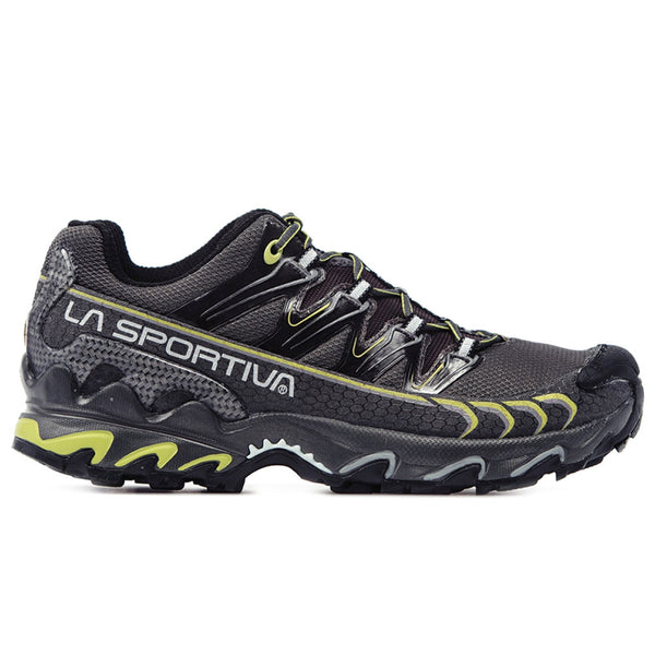 LA SPORTIVA 26R-GG Mens Ultra Raptor GTX Gray and Green Running Shoes
