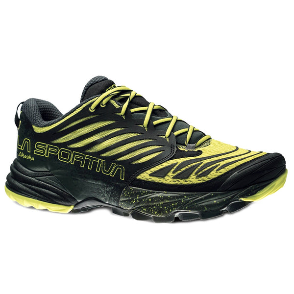 LA SPORTIVA Mens Akasha Black and Yellow Running Shoes (26Y-BY)