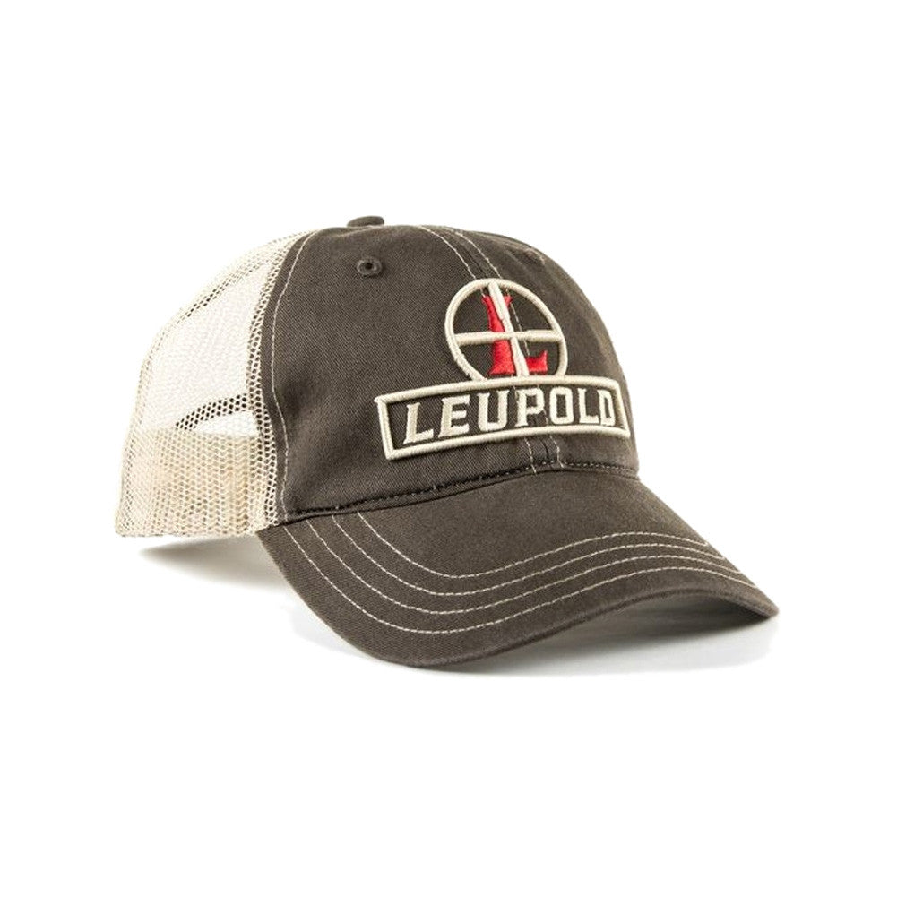 LEUPOLD Reticle Brown and Khaki OS Soft Trucker Hat (170579)