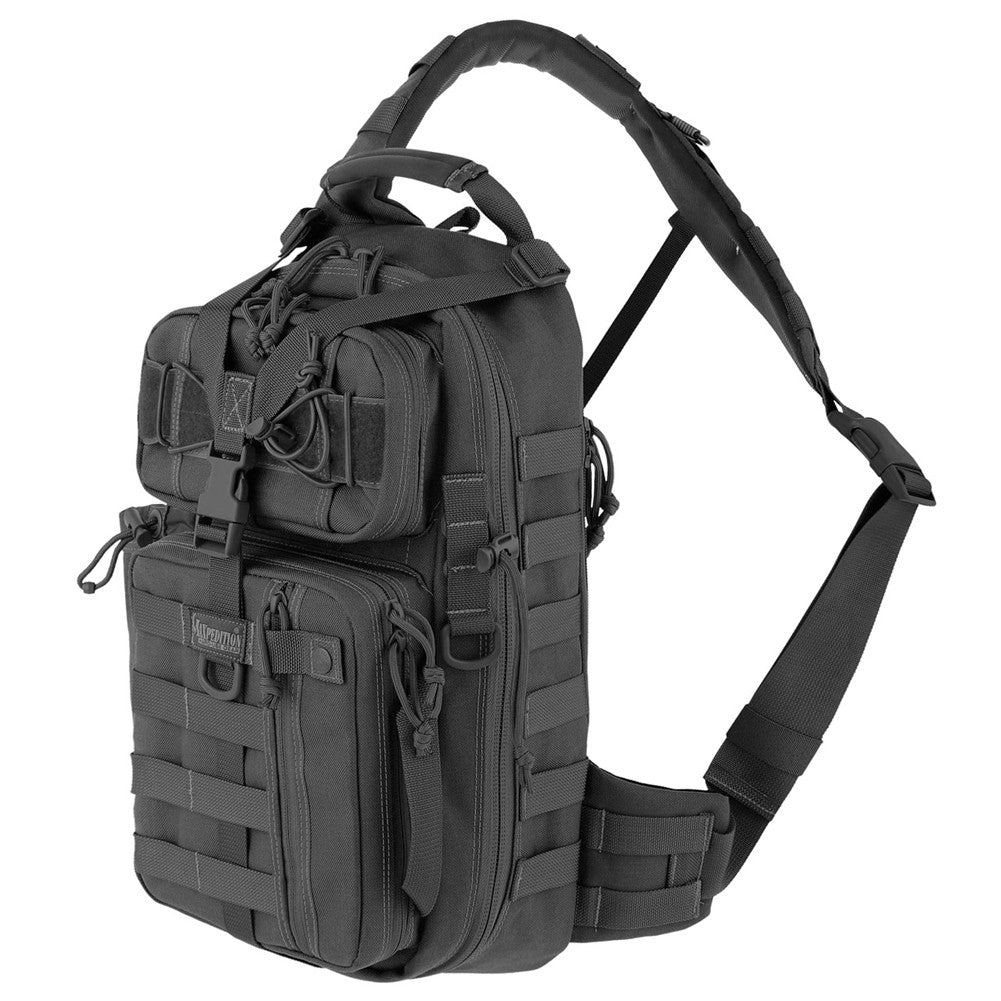 MAXPEDITION Sitka Gearslinger Backpack, Black (0431B)