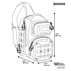 MAXPEDITION EDPBLK Edgepeak Sling Pack