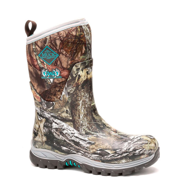 MUCK BOOT COMPANY Womens Arctic Hunter Mid (GWG) Mossy Oak Break-up Country Hunting Boots (AHM-MOCT-MOK)