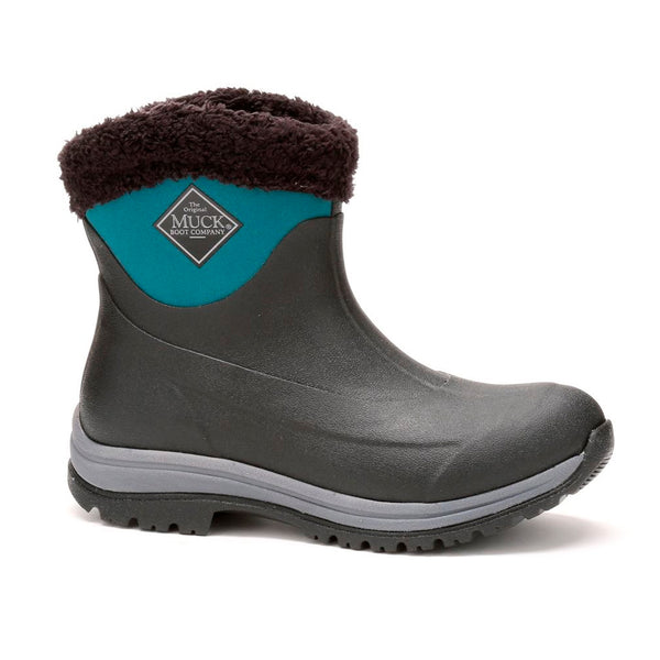 MUCK BOOT COMPANY Womens Arctic Apres Black/Shaded Spruce Winter Boots (AP8-300-GRN)