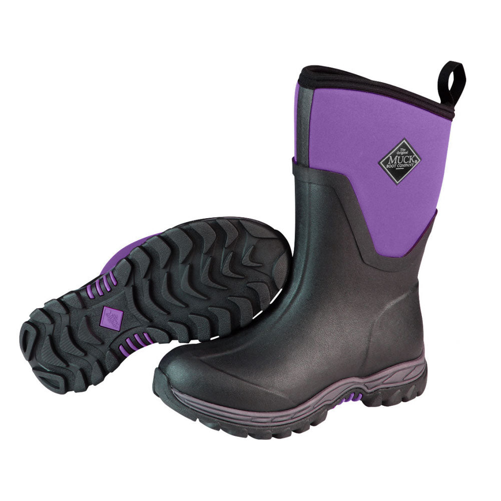 MUCK BOOT COMPANY Womens Arctic Sport II Mid Black/Parachute Purple Winter Boot (AS2M-502-PUR)