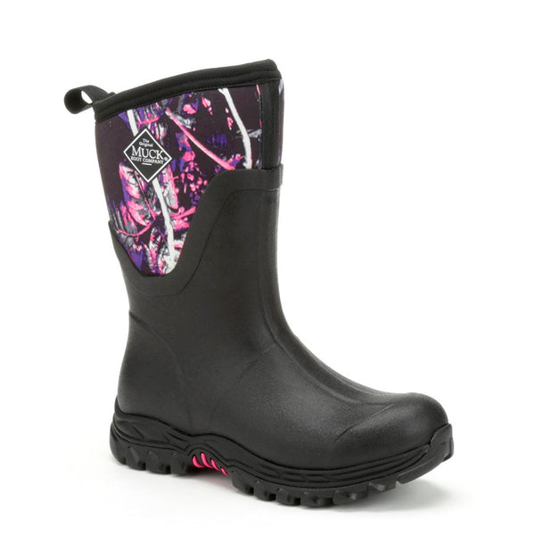 MUCK BOOT COMPANY Womens Arctic Sport II Mid Black/Muddy Girl Winter Boots (AS2M-MSMG-MNS)