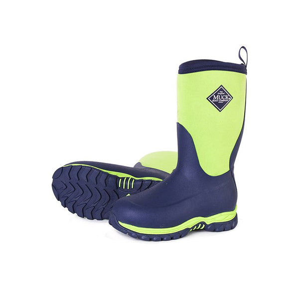 MUCK BOOT COMPANY Kids Rugged II Navy/Green Outdoor Sport Boots (RG2-230-BLU)