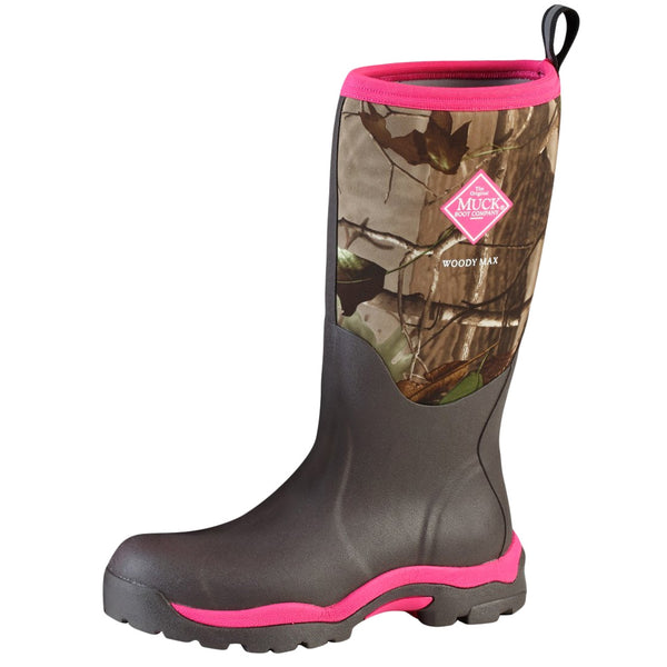 MUCK BOOT COMPANY Womens Woody Max Realtree Xtra/Pink Hunting Boot (WDW-4RTX-RT)
