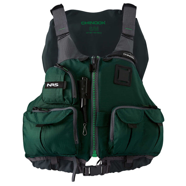 NRS Chinook Fishing Green PFD Vest (40009.03-GRN)