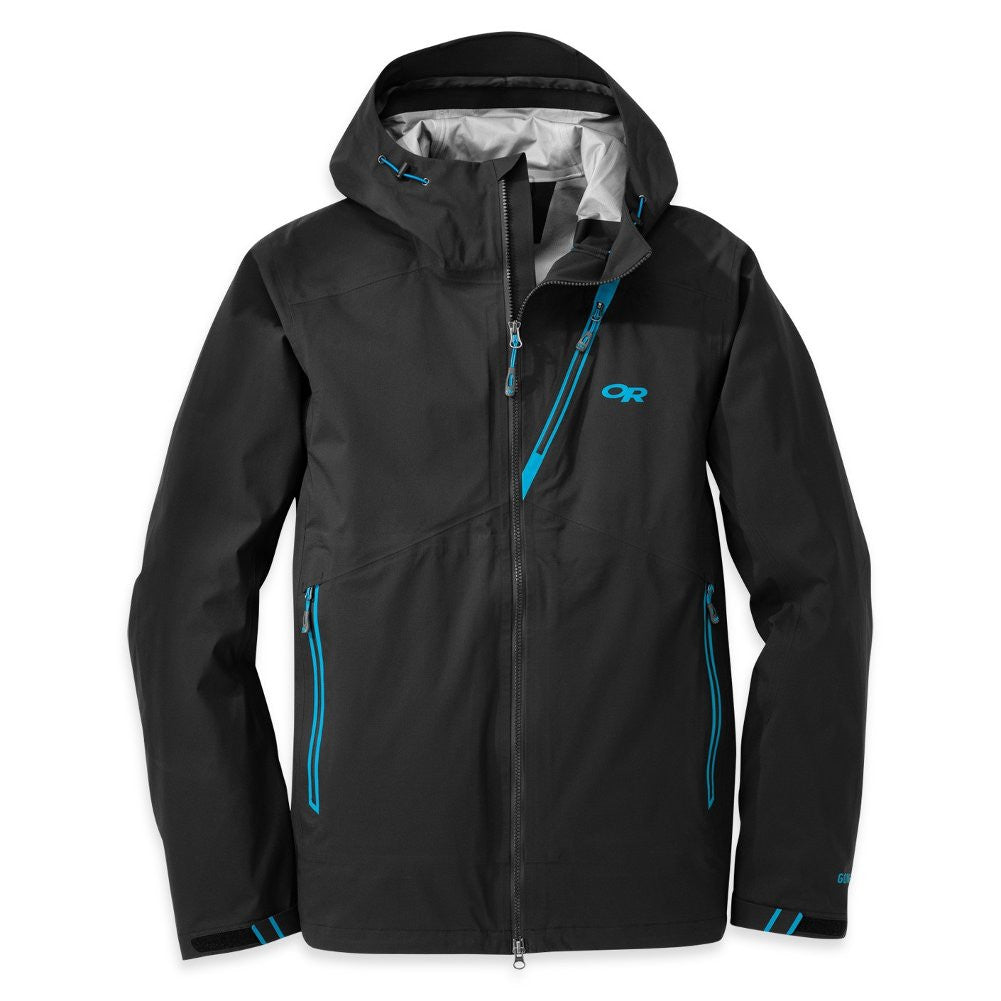 OUTDOOR RESEARCH Mens Axiom Black and Hydro Jacket (55146-129)