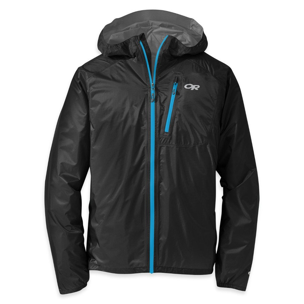 OUTDOOR RESEARCH Mens Helium II Black and Hydro Jacket (55230-129)