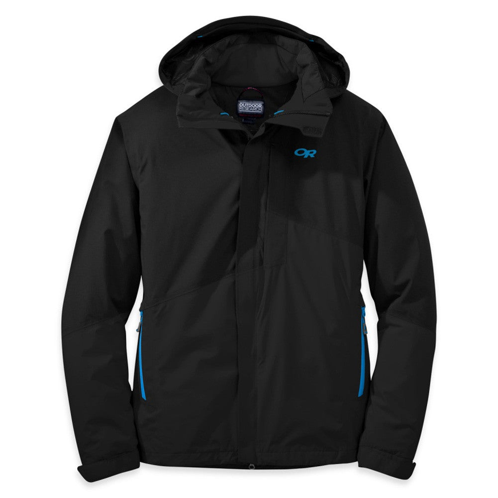 OUTDOOR RESEARCH 244800-0961 Men's Offchute Black and Tahoe Jacket