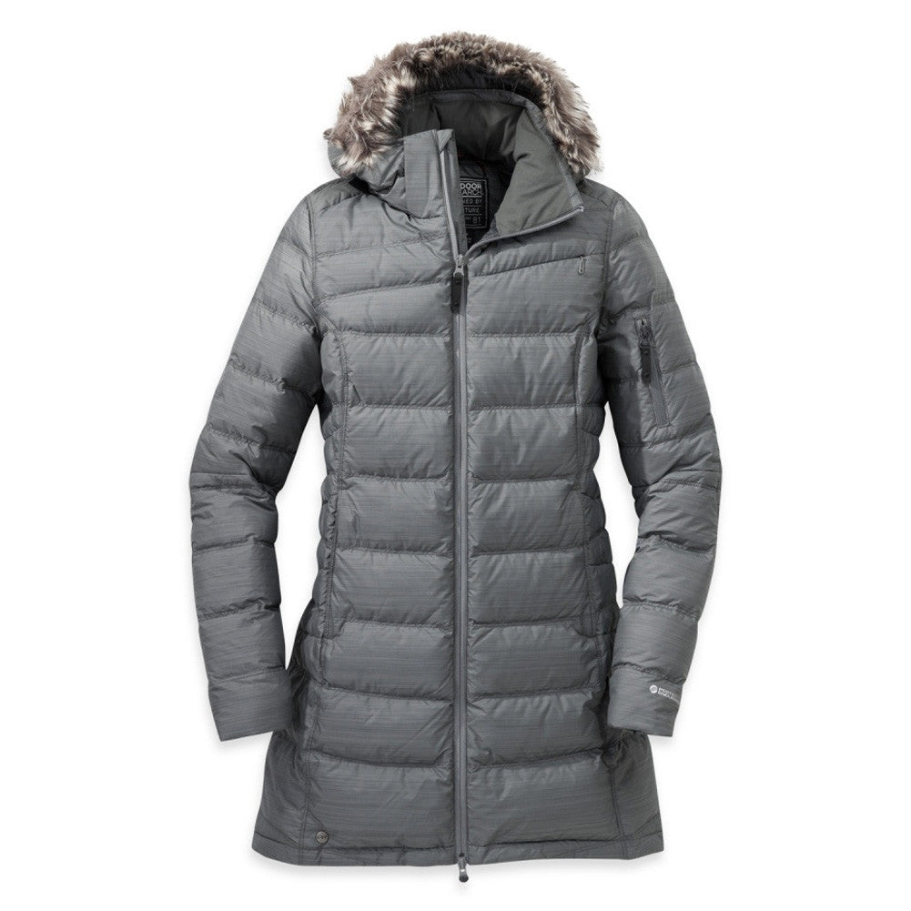 OUTDOOR RESEARCH 244822-0008 Women's Fernie Down Pewter Parka