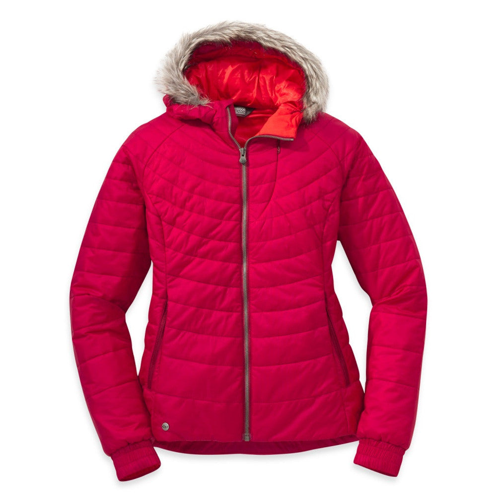 OUTDOOR RESEARCH Womens Breva Scarlet and Flame Jacket (244826-1090)
