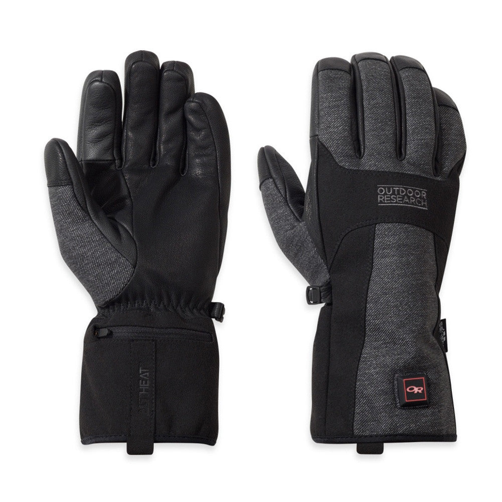 OUTDOOR RESEARCH 244875-0189 Oberland Black and Charcoal Heated Gloves