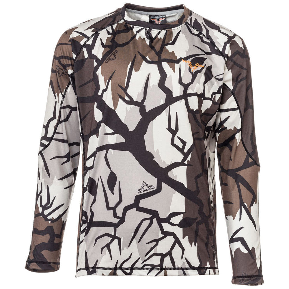 PREDATOR CAMO Performance Fall Gray Long Sleeve Shirt (FG313)