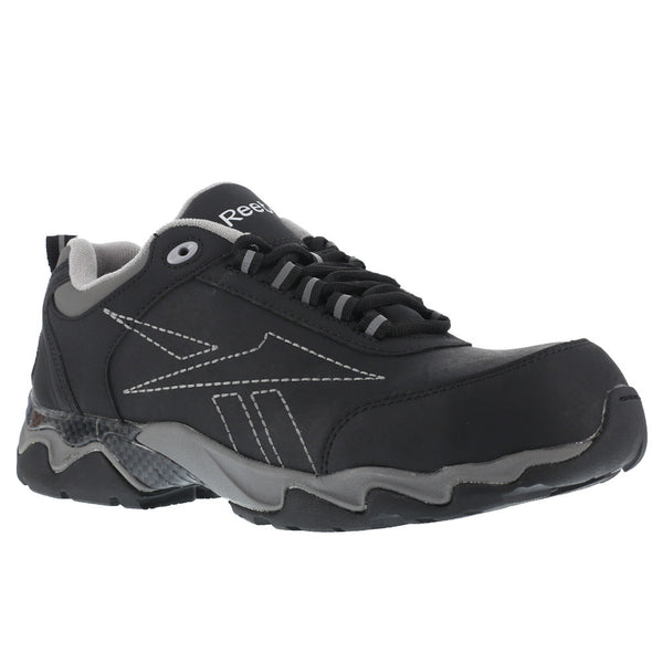 REEBOK Mens Beamer Black Oxford Athletic Shoes with Grey Trim (RB1062)
