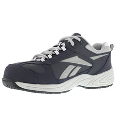 REEBOK RB182 Womens Jorie Navy Blue Street Sport Jogger Oxford Shoes with Silver Trim