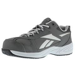 REEBOK Mens Jorie Grey Street Sport Jogger Oxford Shoes with Silver Trim (RB1880)