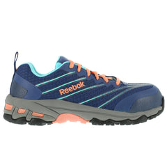 REEBOK RB426 Womens Exline Seamless Indigo Athletic Oxford Shoes with Coral Trim