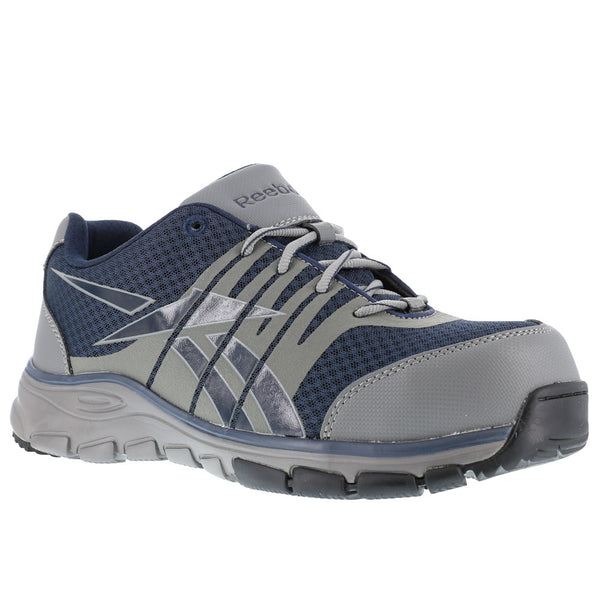 REEBOK Mens Arion Seamless Blue Athletic Oxford Shoes with Gray Trim (RB4502)
