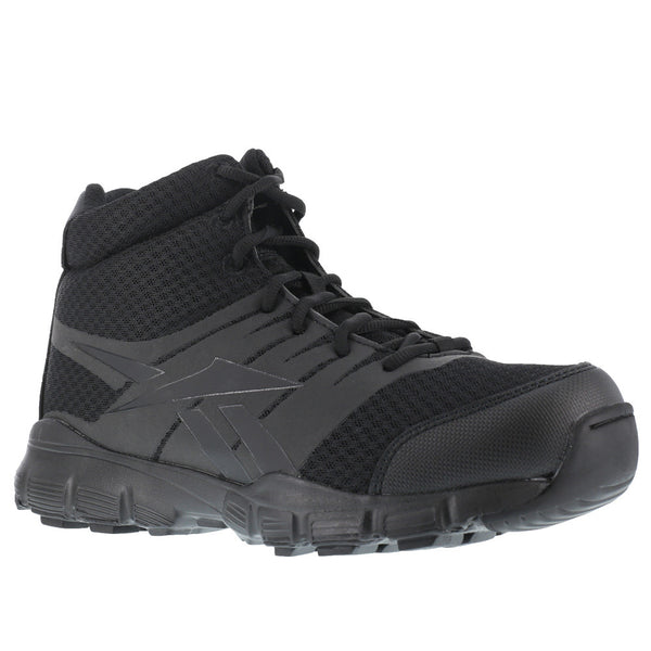 REEBOK Mens Dauntless 5in Seamless Black Tactical Boots with Side Zipper (RB4507)