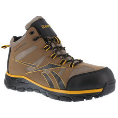 REEBOK Mens Arion Seamless Brown Waterproof Athletic Hiker Boots with Black and Gold Trim (RB4512)