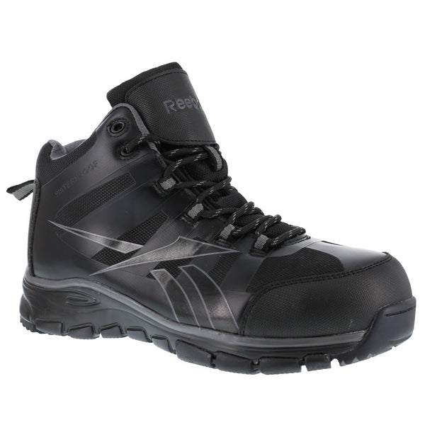REEBOK Mens Arion Seamless Black Waterproof Athletic Hiker Boots (RB4513)