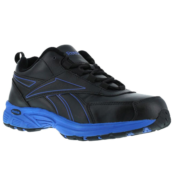REEBOK Mens Ateron Black Performance Cross Trainer Shoes with Blue Trim (RB4830)