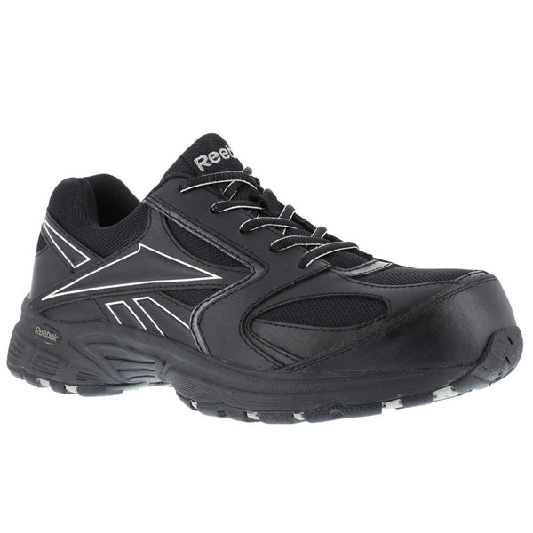 REEBOK Mens Ateron Black Performance Cross Trainer Shoes with Silver Trim (RB4897)