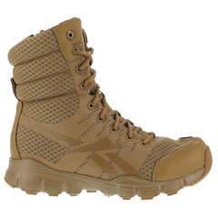 REEBOK RB8721 Mens Dauntless 8in Ultra-Light Coyote Tactical Boots with Side Zipper