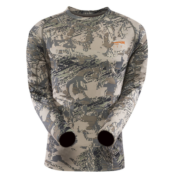 SITKA GEAR 10033-OB Optifade Open Country Core Lightweight Crew Long Sleeve Shirt