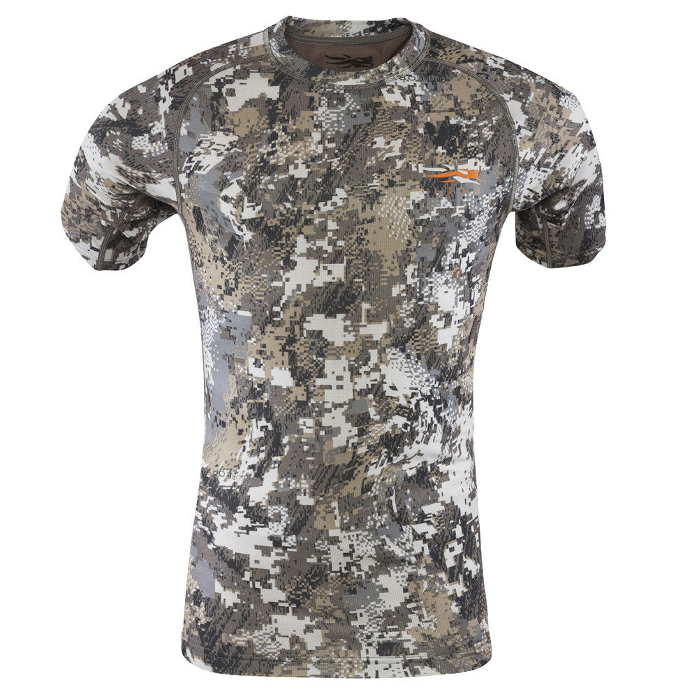 SITKA GEAR Optifade Elevated II Core Lightweight Crew Short Sleeve Shirt (10034-EV)