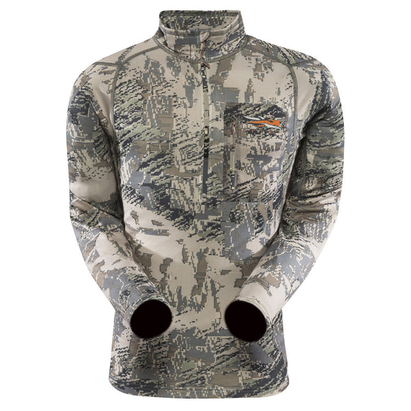 SITKA GEAR 10036-OB Optifade Open Country Core Midweight Zip-T Long Sleeve Shirt