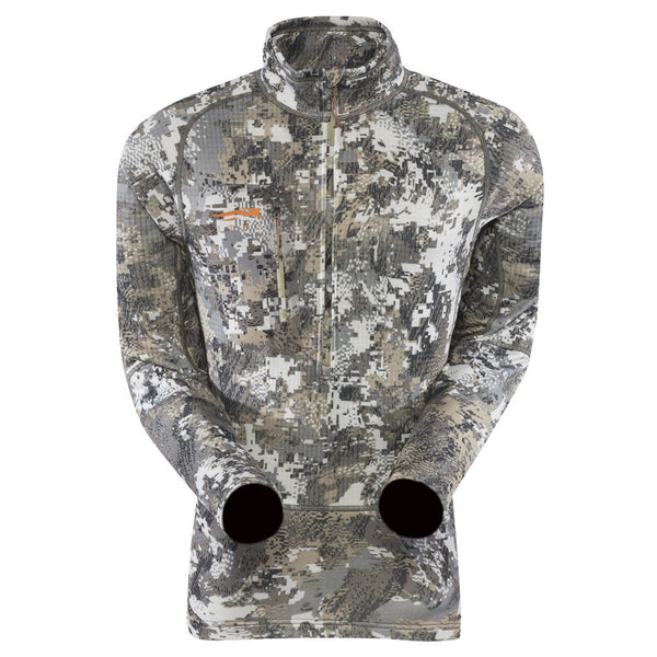 SITKA GEAR 10039-EV Optifade Elevated II Core Heavyweight Zip-T Long Sleeve Shirt