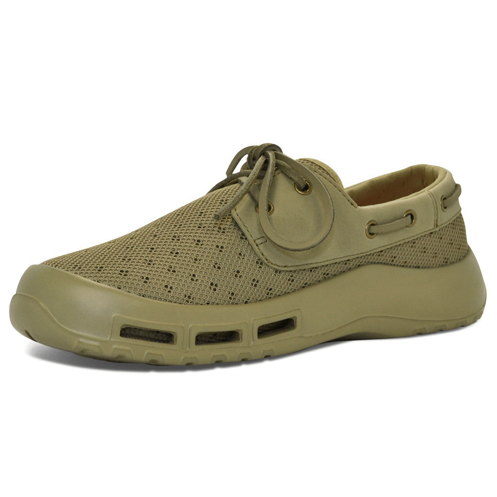 SOFTSCIENCE Mens Fin Khaki Extra Size Boating and Fishing Shoes (MB0005ESKHA)