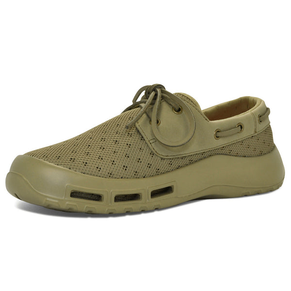 SOFTSCIENCE Mens Fin Khaki Boating and Fishing Shoes (MB0005KHA)