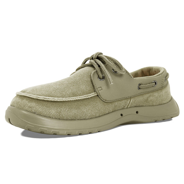 SOFTSCIENCE Mens Cruise Canvas Khaki Boating Shoes (MC0050KHA)