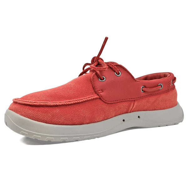 SOFTSCIENCE Mens Cruise Canvas Red Boating Shoes (MC0050RED)