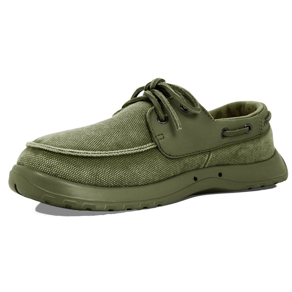 SOFTSCIENCE Mens Cruise Canvas Sage Green Boating Shoes (MC0050SAG)