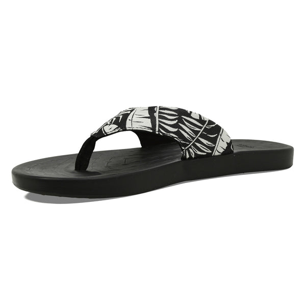 SOFTSCIENCE Men's Waterfall Palm Black Flip Flop (MC0060BLK)
