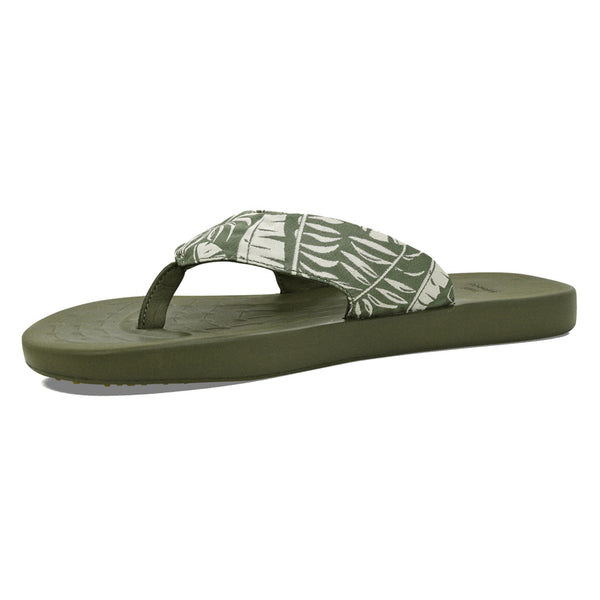 SOFTSCIENCE Men's Waterfall Palm Sage Flip Flop (MC0060SAG)